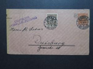 Germany 1924 10pf Germania Uprated Postal Wrapper / Sm edge Tears - Z10210