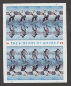 U.S. Scott #5252-5253 History of Hockey Stamp- LR Plate Position - Mint NH Sheet