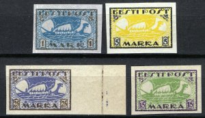 Estonia 1919-20, Vikingships, Mi 12y,13x, 23B, 24B, All MNH Cat +34,5€ (E10006)
