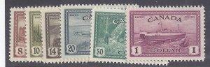 Canada Scott #268-73 Complete Set Mint NH OG VF