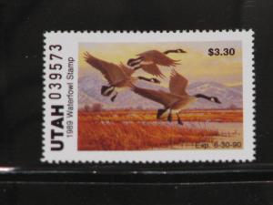 Utah 1989 State Duck, MNH