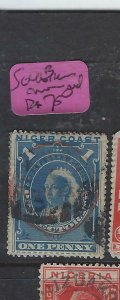 NIGER COAST PROTECTORATE (PP2504B) 1D  SG 46B  RED CANCEL   VFU