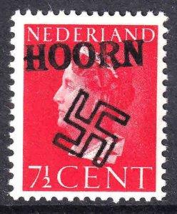 NETHERLANDS 217 HOORN OVERPRINT OG NH U/M F/VF BEAUTIFUL GUM