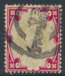 GB SG 313 spacefiller faded green Used cat £40 1911 SC# 138a  See scan