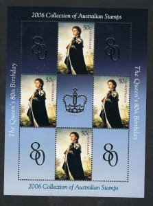 2006 QEII Birthday sheetlet ex Yearbook MUH NS339