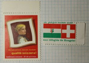 Swiss Week World Market Italy WW Charity Seal Poster Stamp