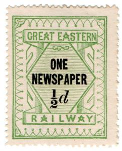(I.B) Great Eastern Railway : One Newspaper ½d (without control)