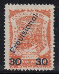 Colombia SCADTA 1923 30c on 60c Provisional Surcharge Used. Scott C52