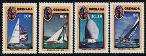 Grenada 1491-4 MNH America's Cup, Yacht Racing