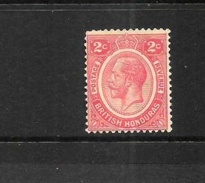 BRITISH HONDURAS 1922-33  2c   KGV   MLH   SG 128