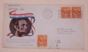 UNITED NATIONS NY  COURIER  12 FEB 1947  CACHET ADDRESSED