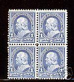 US 1894 F+ BLOCK OF FOUR  MINT NH SCOTT#247