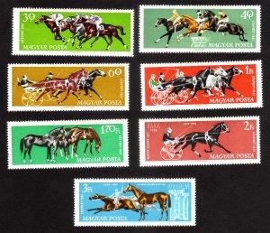 1961, Hungary, Horse Sports set, MNH, Sc 1406-12