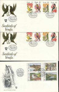 South Africa States Venda Flowers Birds Butterflies Covers Cards x25(W1659