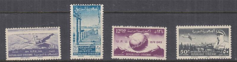 SYRIA, 1949 UPU set of 4, lhm.