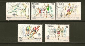 Poland Los Angeles 1984 Olympics Lot of 5 Stamps MNH