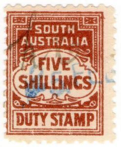 (I.B) Australia - South Australia Revenue : Stamp Duty 5/-