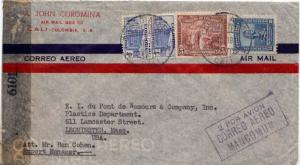 Colombia 1/4c Communications Building Postal Tax (2), 5c Coffee Picking and 3...