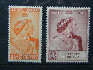 Northern Rhodesia 1948 Royal Silver Wedding set MM