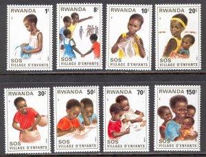 Rwanda MNH 1019-26 Children's Village SCV 7.95