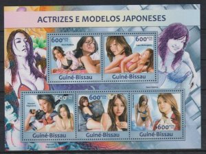 Guinea-Bissau MNH S/S Gorgeous Japanese Models 2013