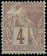 French Colonies  - 48 - Unused - SCV-5.50