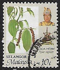 Malaya, Selangor # 145 - Black Pepper - used....{BR23}
