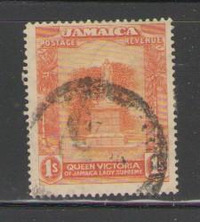 Jamaica Sc 83 1920  1/ Victoria Statue stamp used