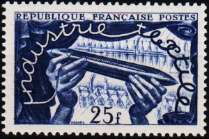 France. 1951 25f S.G.1109 Mounted Mint