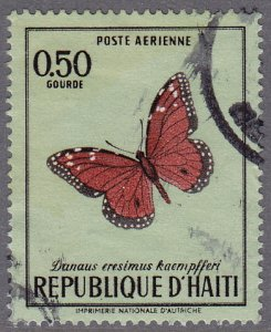 Haiti - 1969 - Scott #C348 - used - Butterfly