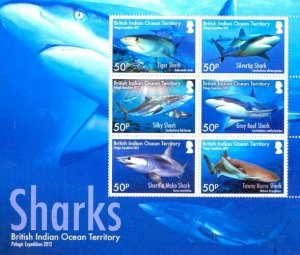 Stamps British Indian Ocean Territories (BIOT) -  Sharks Issue .