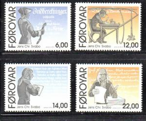 Faroe Islands Sc 540-3 2010  Svabo stamp set mint NH