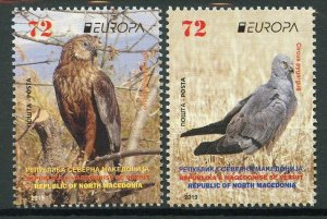 North Macedonia 2019 MNH Birds Harriers Europa 2v Set Birds of Prey on Stamps