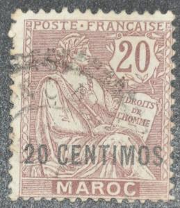 DYNAMITE Stamps: French Morocco Scott #17 – USED