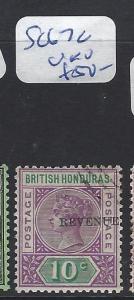 BRITISH HONDURAS (P0104B)  QV 10C REVENUE SG 67C  VFU