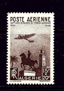 Algeria CB3 MNH 1949 Plane and Monument (small bit of glazing on gum))