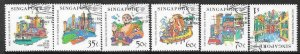 SINGAPORE SG991/6 1999 SINGAPORE-HONG KONG JOINT ISSUE  FINE USED