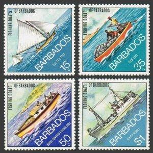 Barbados 392-395,395a,MNH.Michel 361-364,Bl.4. Fishing Boats 1974.Old sailboat,