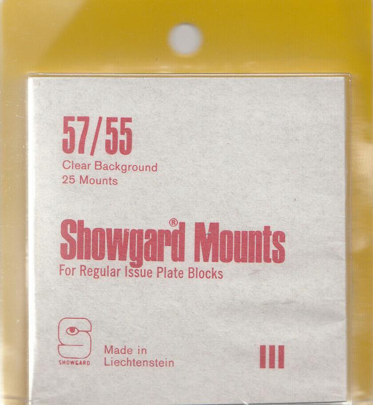 SHOWGARD CLEAR MOUNTS 57/55 (25) RETAIL PRICE $8.35