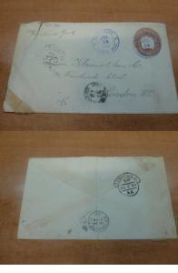 Costa Rica PSE 1901 10c to London England, backstamp