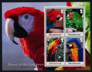 Montserrat 1193 MNH Parrots, Birds