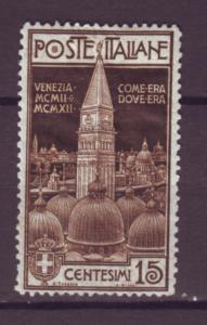 J21464 Jlstamps 1912 italy mh #125 venice