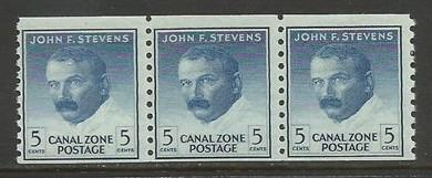 CANAL ZONE 155 MNH STRIP OF 3 991G