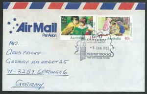 AUSTRALIA 1993 cover to Germany - nice franking - Sydney pictorial pmk.....12832