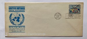 UN POSTAL STATIONARY , POSTAL CARD  UNITED NATIONS  1963 UN, NEW YORK