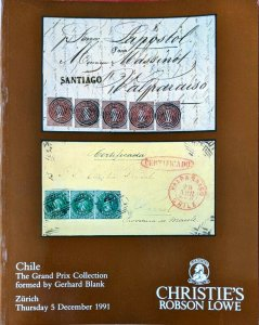 Auction Catalogue Classic CHILE the Gerhard Blank Grand Prix Collection