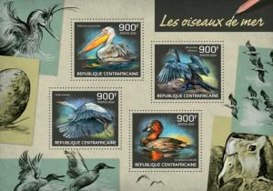 CENTRAFRICAINE 2014 SHEET SEABIRDS BIRDS WILDLIFE