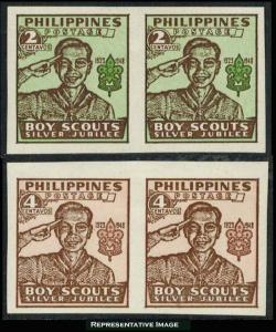 Philippines Scott 528-529 Unused lightly hinged.