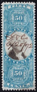 US STAMP REVENUE #R115 50c 1871 2nd Issue  Revenue Stamp Used