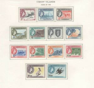 Virgin Islands 1956 Stamps MH, Approx. CV. as NH $98 (JH 9/22) GP